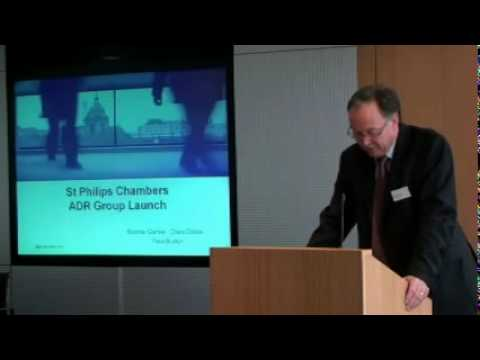 Youtube Thumbnail for video: St Philips ADR Launch Seminar - Introduction by John Randall Barrister | John Randall QC